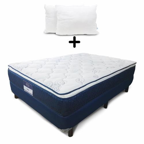 colchon y box america aspen queen size + 2 almohadas gratis