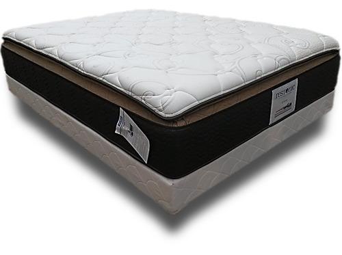 colchón y box asleep king size restonic