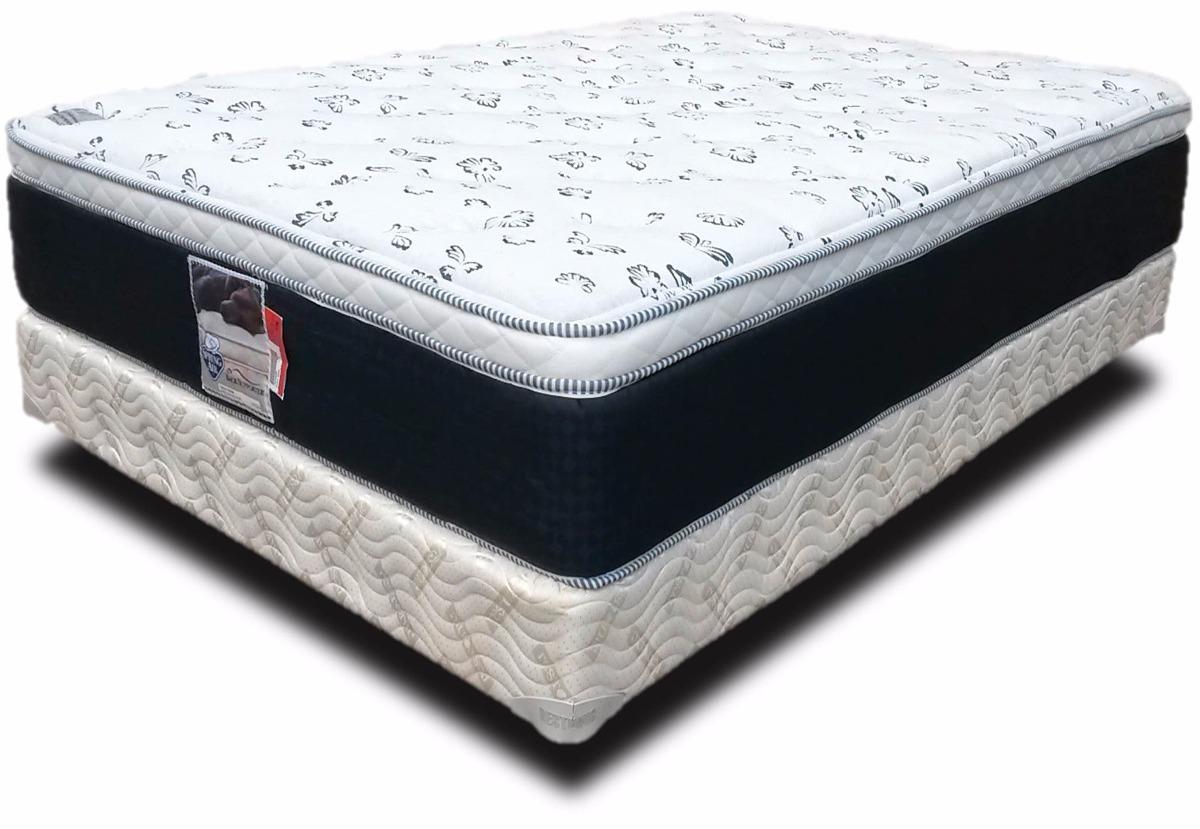 Colch n y box matrimoniales spring air soporte confort for Cama king size con colchon