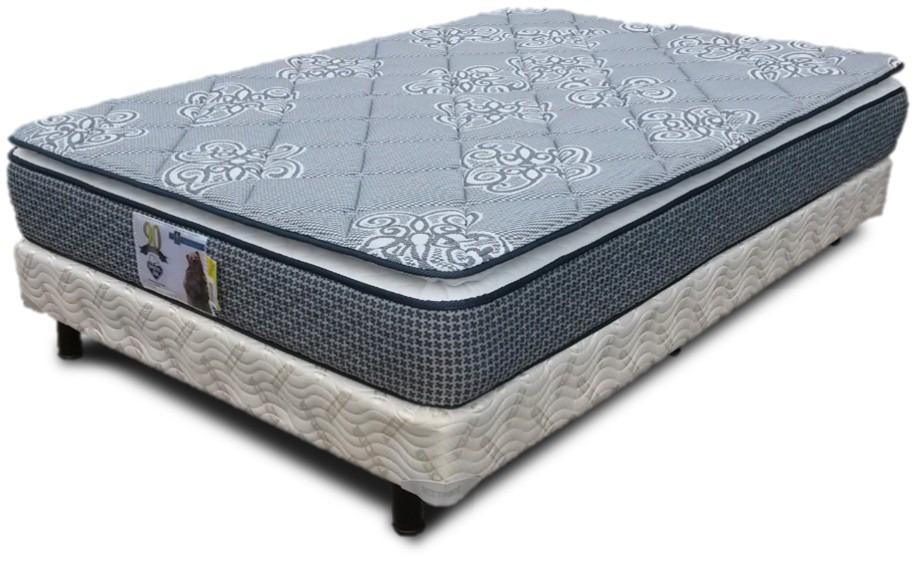 Colchon y box queen size spring air para cama pillow top for Colchon para cama king size