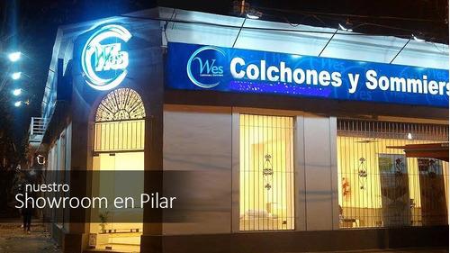 colchon y somier 2x2 king side, luxury top, zeus, wes c
