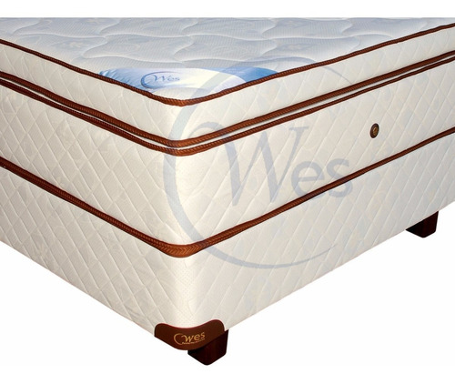 colchon y somier 2x2 king side, luxury top, zeus, wes c