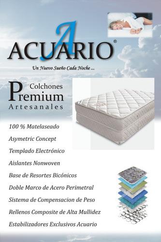 colchon y sommier 2 1/2 plaza. pillow 32cm. somier mas cover