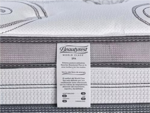 colchon y sommier beautyrest world class spa 140x190