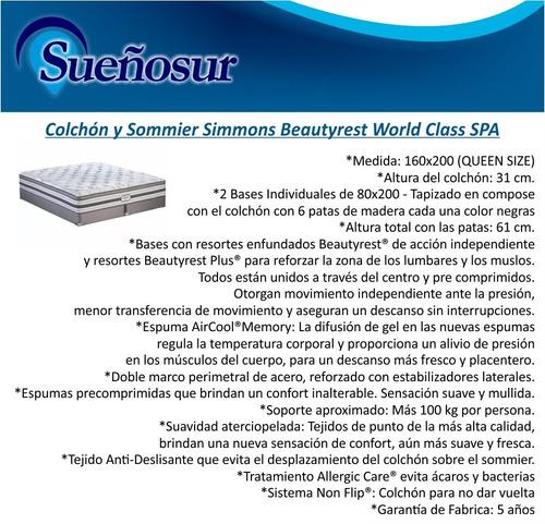 colchon y sommier beautyrest world class spa 160x200