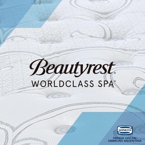 colchón y sommier beautyrest worldclass spa 2 plazas 200x200