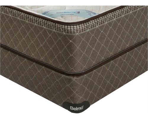 colchón y sommier belmo belspring 2 - queen - 160x190