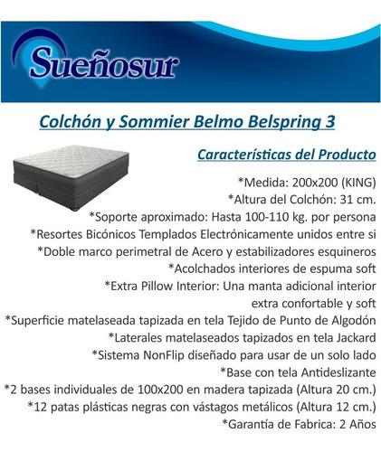 colchón y sommier belmo belspring 3 - king - 200x200
