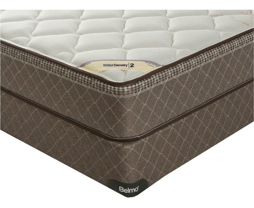 colchón y sommier - belmo density 2 - 1 plaza 1/2 - 100x190