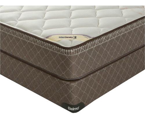 colchón y sommier - belmo density 2 - 1 plaza 1/2 - 90x190