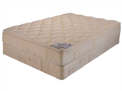 colchon y sommier belmo dorado pillow 2 plazas 130x190