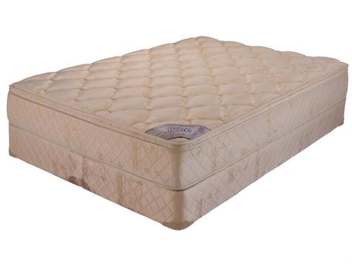colchon y sommier belmo dorado pillow queen size 160x190