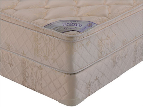 colchon y sommier belmo dorado pillow queen size 160x200