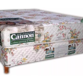 Colchon Y Sommier Cannon Espuma 140x190