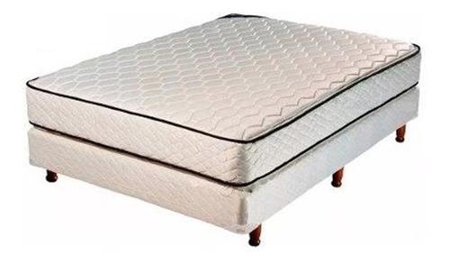 colchón y sommier piero 2 plazas 140 x 190 2 alm envio caba