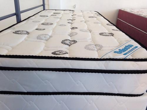 colchón y sommier selecto, espuma  dens. 45 1 pza c/almohada