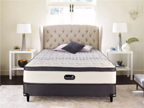 colchón y sommier simmons backcare siesta - queen - 160x200