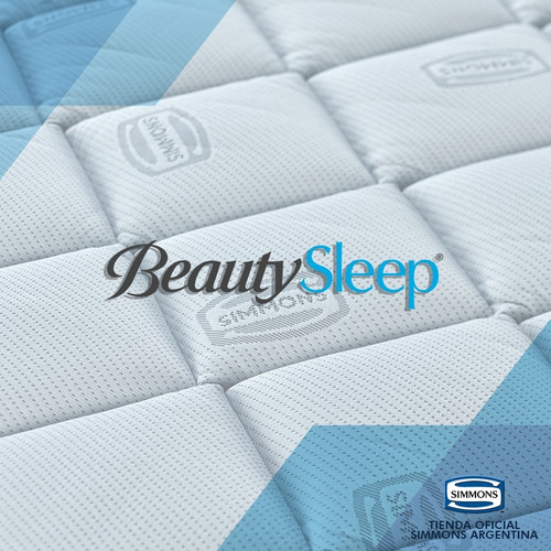 colchón y sommier simmons beautysleep  2 plazas king 200x180