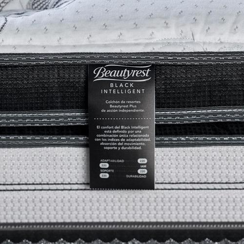 colchón y sommier simmons black intelligent 2 plazas 200x200