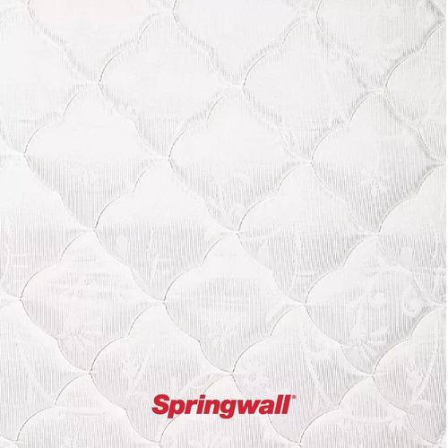 colchón y sommier springwall 201 - 1 plaza - 080x190