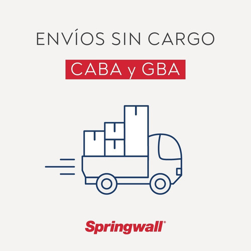 colchón y sommier springwall 303 - 1 plaza - 080x190