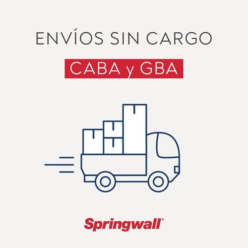 colchón y sommier springwall ml 01 - 1 plaza 080x190