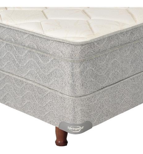 colchón y sommier torsion springwall 314  2 plazas  140x190