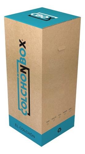 colchónbox full colchón 2 plazas de alta densidad en caja
