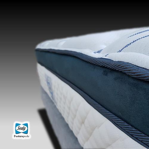colchones individuales sealy doha posturepedic + 2 almohadas