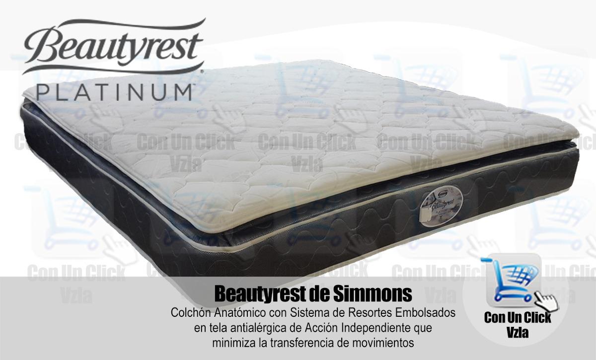 Colchones Simmons Beautyrest Platinum 160x190   Bs. 13.900,00 en
