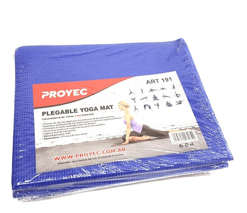 colchoneta 4 mm mat yoga proyec pilates gym fitness plegable