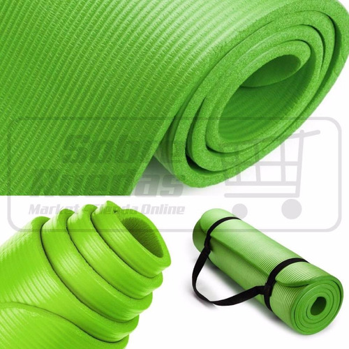 colchoneta antideslizante yoga mat pilates 1.83x0.61x1.5cm