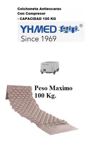 colchoneta antiescaras con compresor -  capacidad de 100 kg