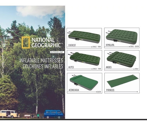 colchoneta autoinflable camping national geographic 1 plaza