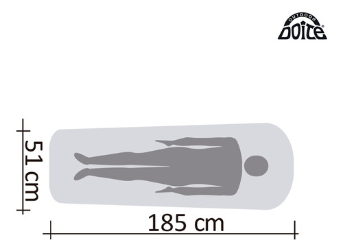 colchoneta autoinflable crostec verde doite