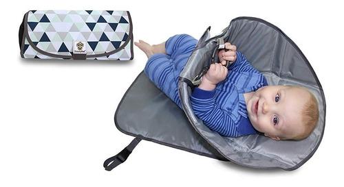 colchoneta cambiador portátil para bebe con barrea
