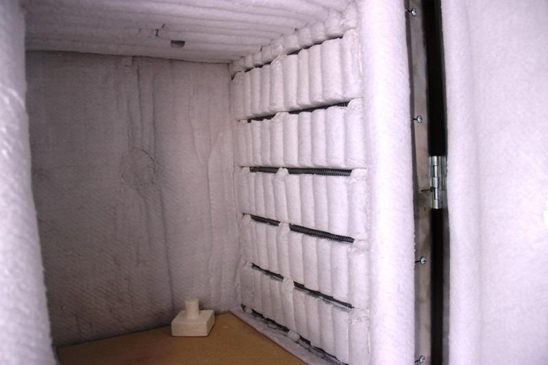Colchoneta fibra refractaria para aislamiento termico for Aislante termico para hornos