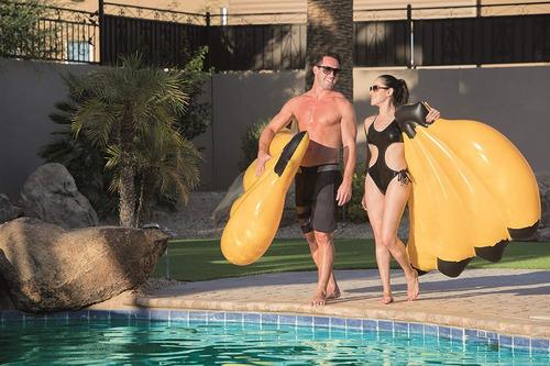 colchoneta flotador gigante racimo de bananas 1,40 m pileta