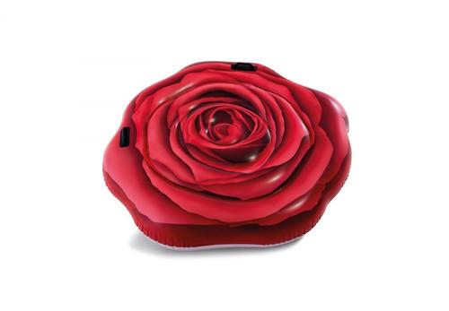colchoneta flotador inflable rosa 137x132 intex 24150/0 mm