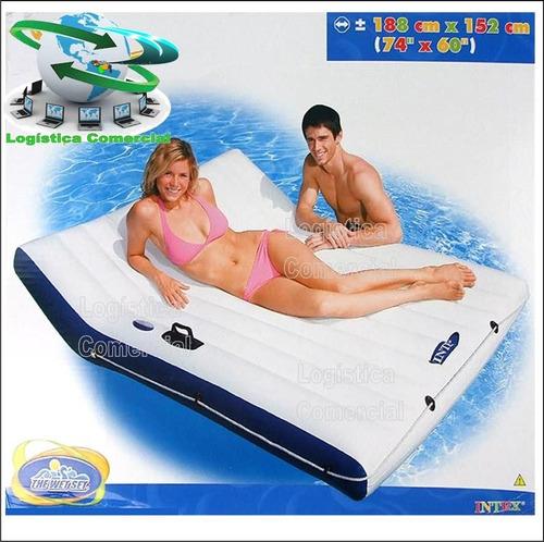 colchoneta flotador matrimonial +asas+portavasos 58865