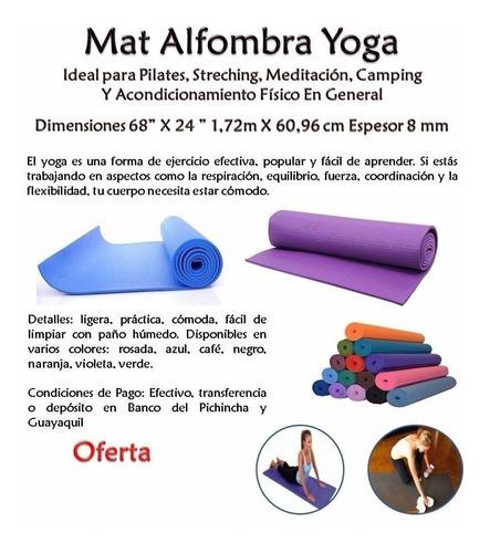 colchoneta fomix ejercicios yoga gimnasio fitness piso