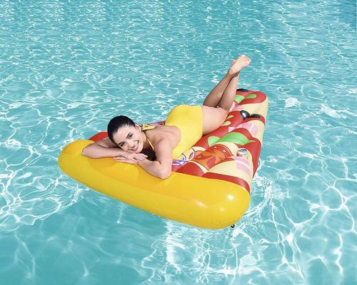 colchoneta gigante inflable pizza party mediano 1,88 pileta