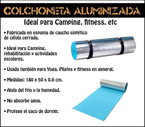 colchoneta goma eva aluminizada, trekking, outdoor, camping