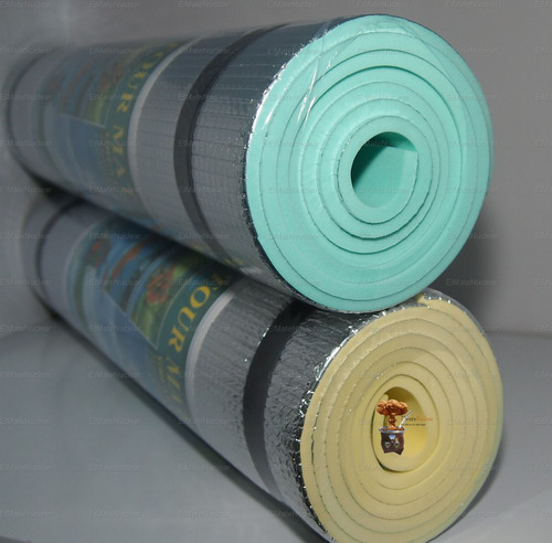 colchoneta goma eva aluminizada yoga pilates gimnasia emn