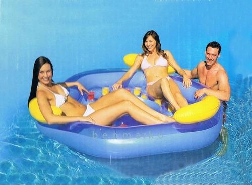 colchoneta inflable 3 personas pileta agua playa oferta!!