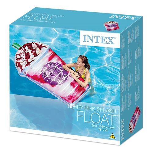 colchoneta inflable  batido de leche intex 58777 piscina