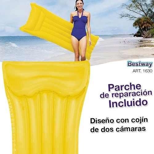 colchoneta inflable bestway 183x69cm flotador pileta playa
