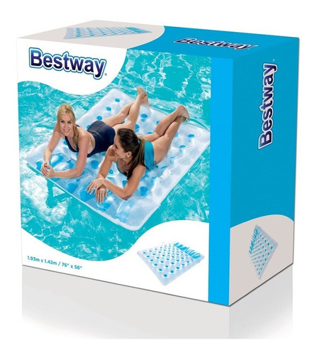 colchoneta inflable doble bestway beach bed 43055 2m cuotas