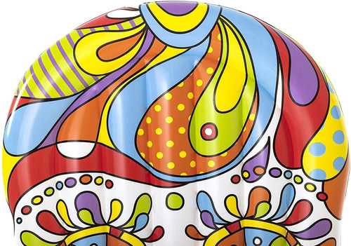 colchoneta inflable fiesta calavera 193x141 cm bestway 43194
