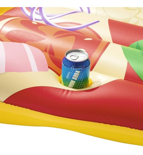 colchoneta inflable grande pileta pizza party verano diseño